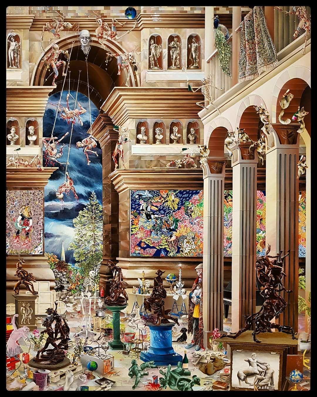 Raqib Shaw exhibition yesterday  #edinburgh #edinburghlife #edinburghhighlights #edinburghcity #city #citylove #citylife #citytrip #cityscape #cityphotography #scotland #scottish #scottishsummer #summer #august #historic #history #modern #art #modernart #exhibition #painter #artist #oil #painting #raqibshaw #bright #colourful #colorful #colour