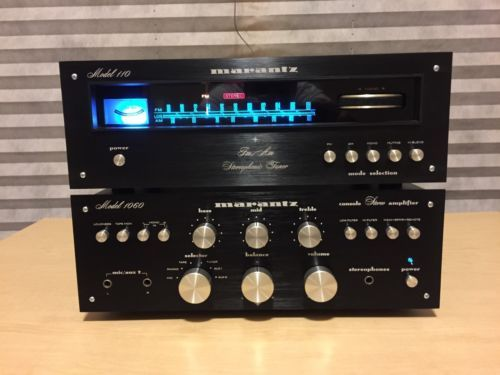 Spiksplinternieuw Marantz New 110 Tuner Laser Etched Black FacePlate And Screws UW-04