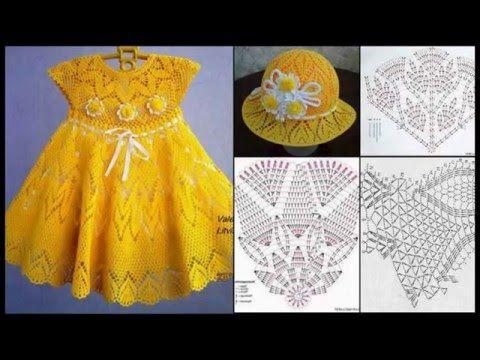Hermoso Vestidos De Nina Con Patrones Paso A Paso Ninas Crochet