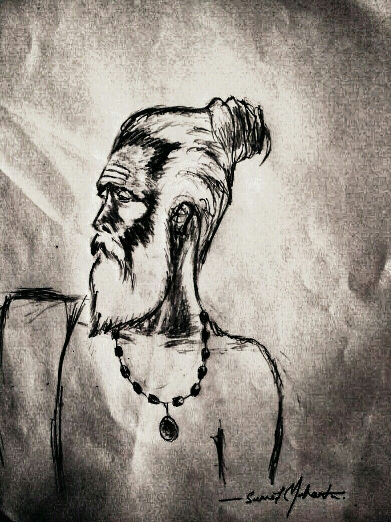 Indian aghori baba sketch with images sketches small