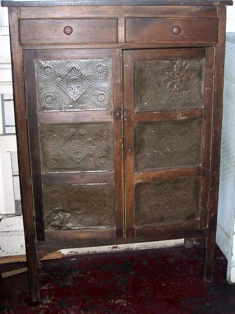 Lot 157 Punched Tin Pie Cupboard Mclaren Auction Services