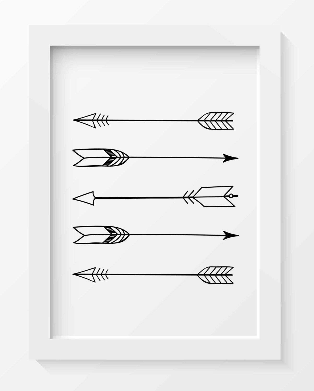 Arrow Wall Art tribal arrow print, arrow wall art, black and white art prints