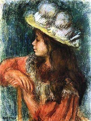 Auguste Renoir Jeune fille assise au Chapeau blanc