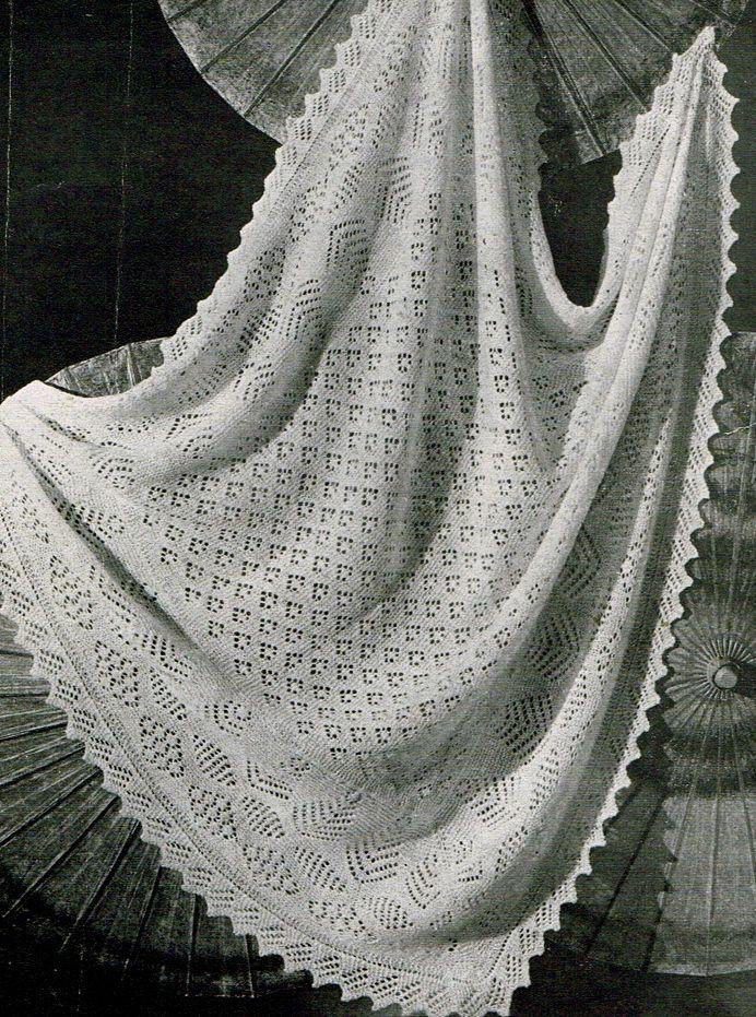 Shetland lace shawls- vintage knitting patterns | Blankets ...