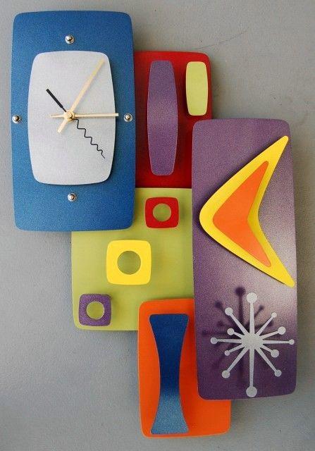 10 Coolest Affordable Retro Modern Wall Clocks Under 300 Retro Clock Clock Clock Art