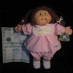 1985 Cabbage Patch Kids Girl Doll Brown Eyes Brunette Braids Tooth Vintage Minty Cabbage Patch Kids Cabbage Patch Kids Dolls Cabbage Patch Dolls