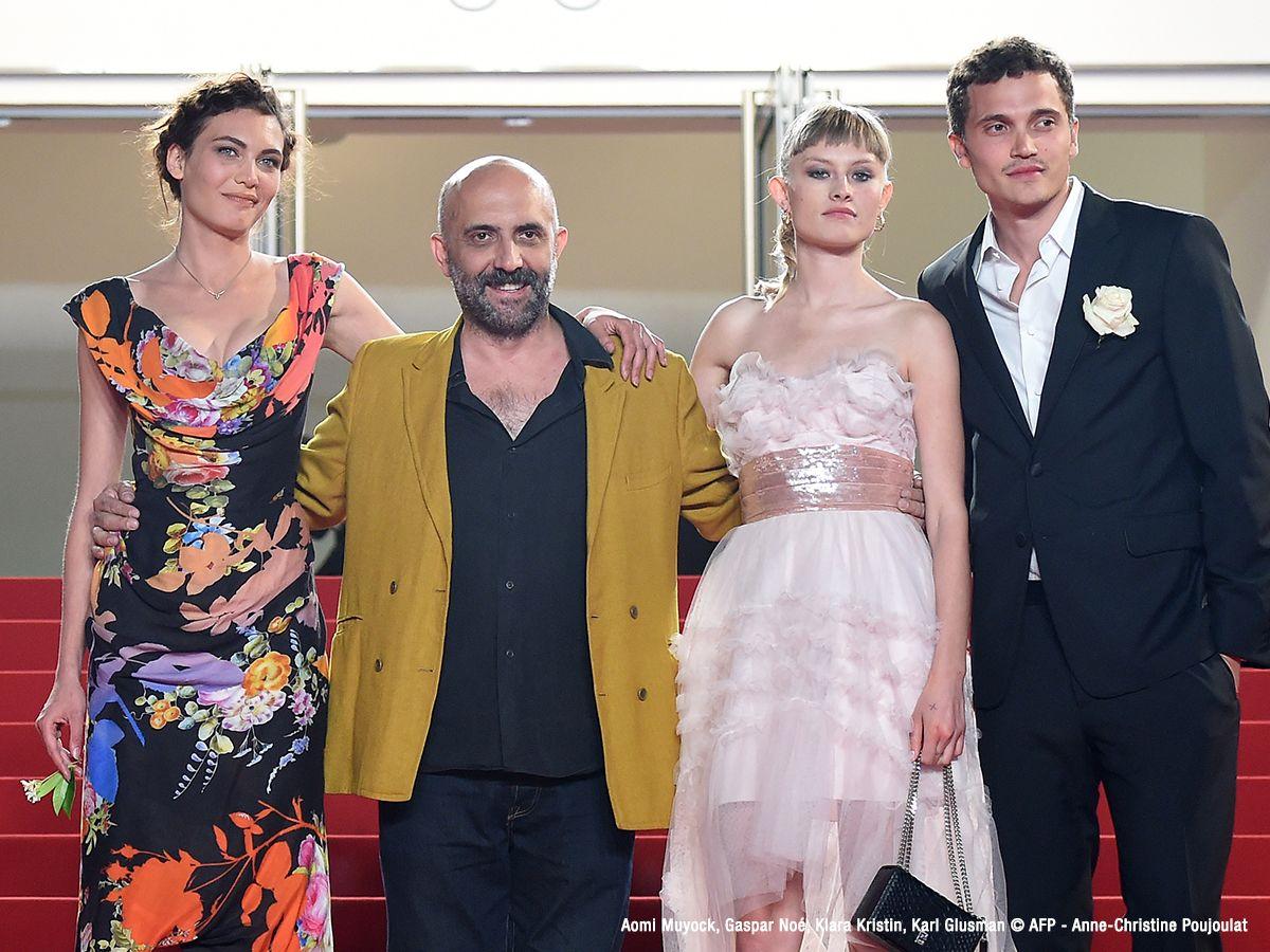 Aomi Muyock, Gaspar Noé, Klara Kristin, Karl Glusman |.| Cannes 2015 (LOVE de Gaspar Noé)