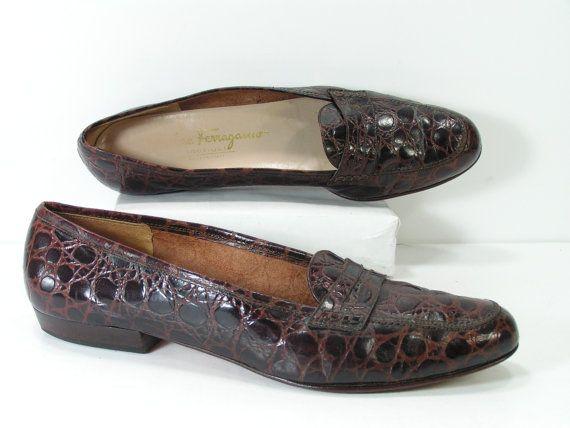 472b895fa4d84 Ferragamo shoes womens 7.5 a brown flats salvatore leather faux ...