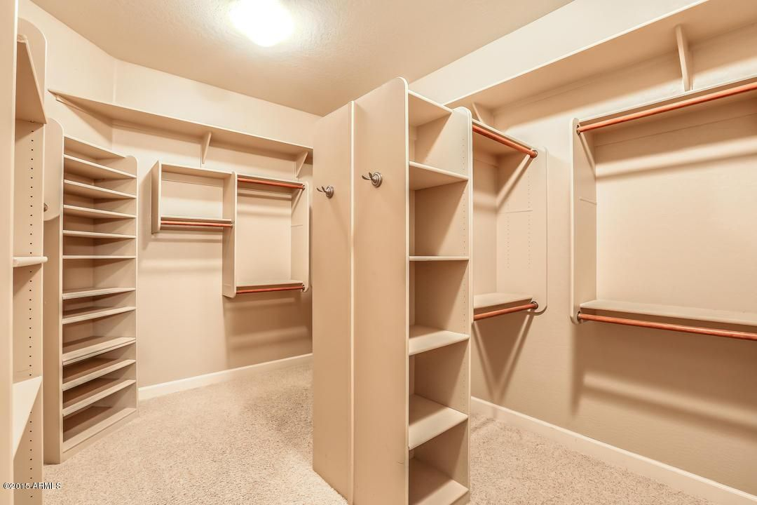 Master Closet Ideas: Peninsula In The Middle Of The Closet U003d Extra Storage.  Lots Of Double Hanging Space And Plenty Of Shelves. Better Than Builder  Basic.