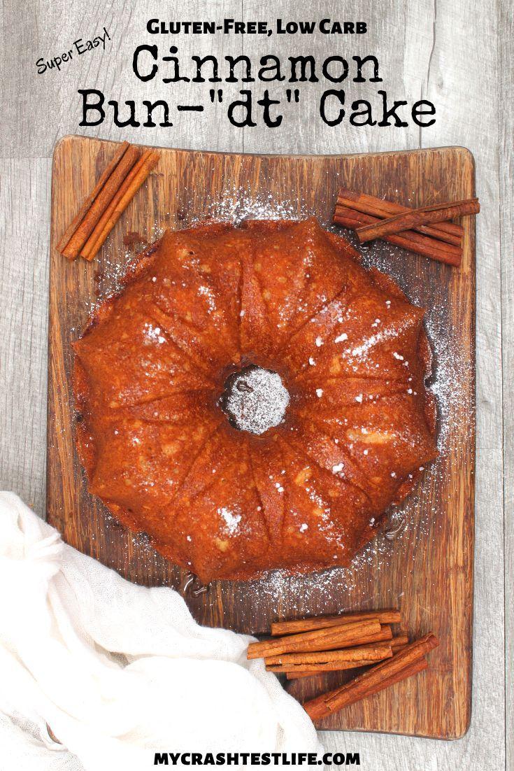 Cinnamon bun bundt cake glutenfree keto recipe