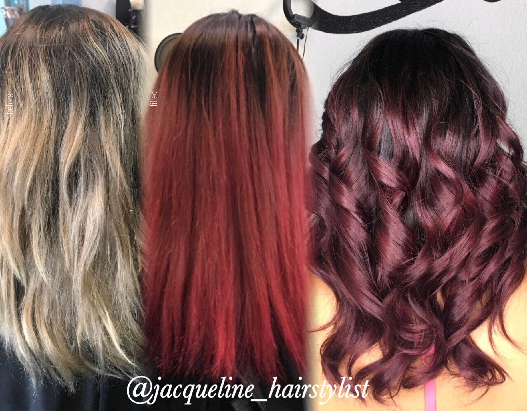 From Platinum Blonde To Red Wine Filled With Viral Shampoo In Red First To Hold The Color Better Jacque Easy Hairstyles Top 10 Hair Styles Thick Hair Styles