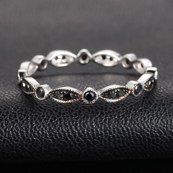 bands eternity white black ring row wedding unique wh gold diamond luxurman band