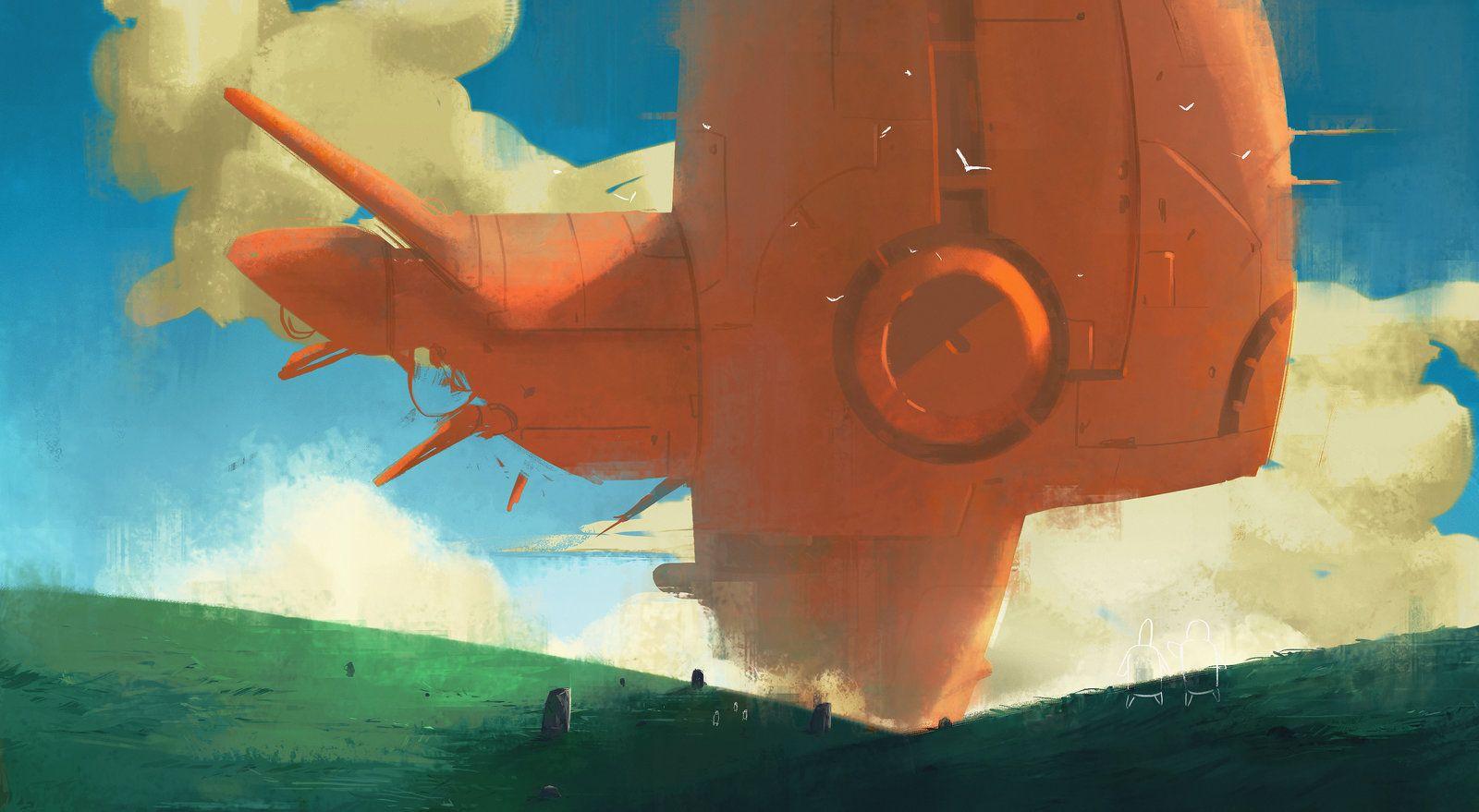 fishship , Tyler Ryan on ArtStation at https://www.artstation.com/artwork/fishship