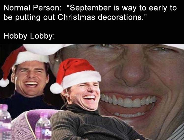 Funny Christmas In July Memes.I Work At Hobby Lobby And We Have It Out In July Get Your