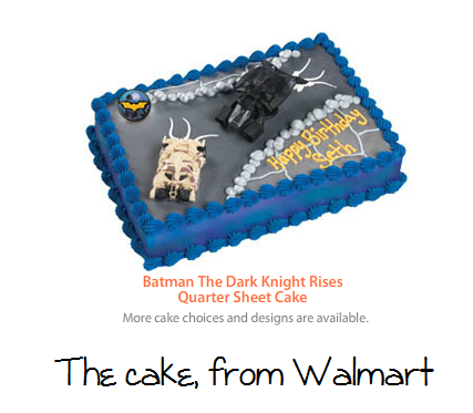 Batman cake from Walmart Party Superhero Birthday Pinterest