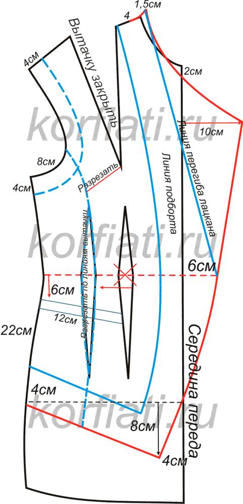 Как сшить жилет - выкройка от Анастасии Корфиати | Cómo coser ...