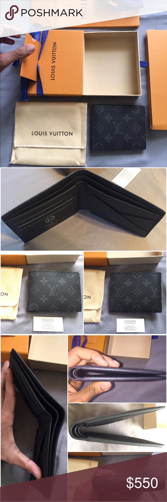 48191545b467 Louis Vuitton Monogram Eclipse Lim Wallet Limited X fragment LV men s  Multiple Wallet in the new