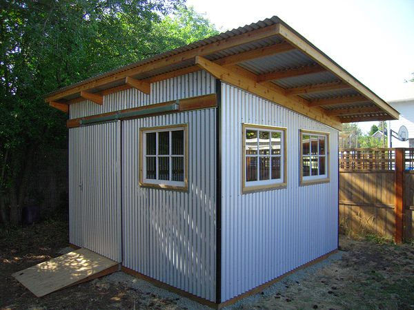 homes with corrugated metal walls shed bike cantilever tool shed pinterest modern corrugated