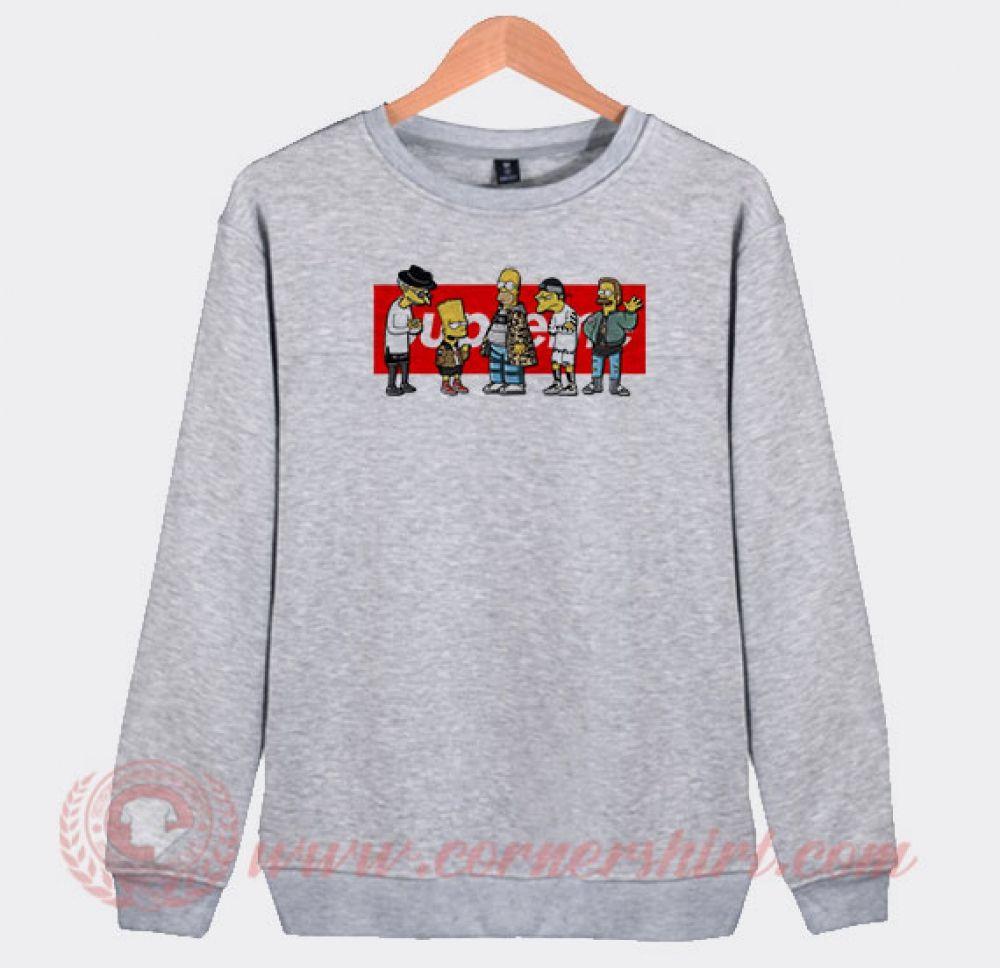 Supreme Simpson Custom Sweatshirt (With images) Custom