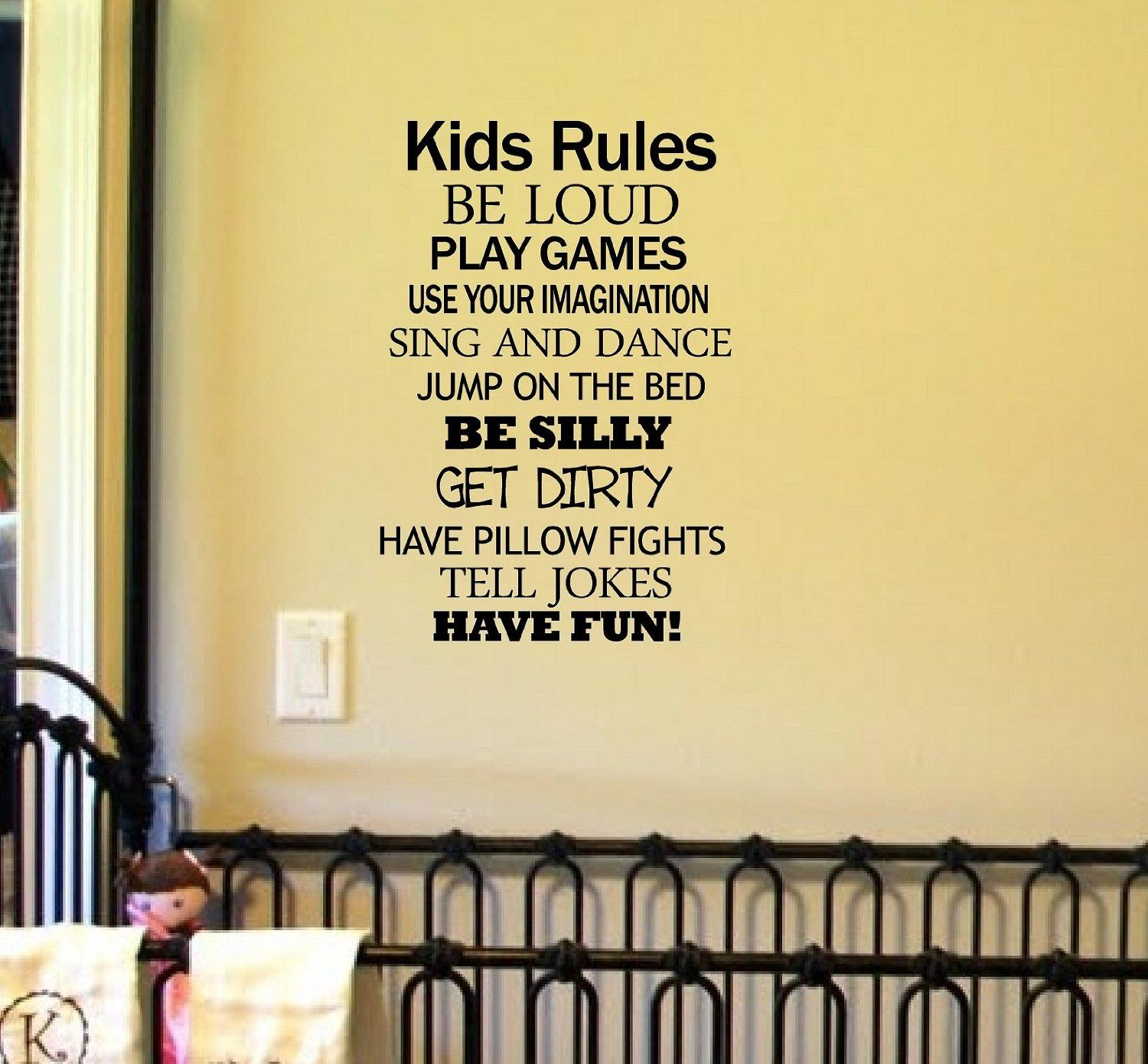 Amazon.com: KIDS RULES BE LOUD PLAY GAMES USE YOUR IMAGINATION SING ...