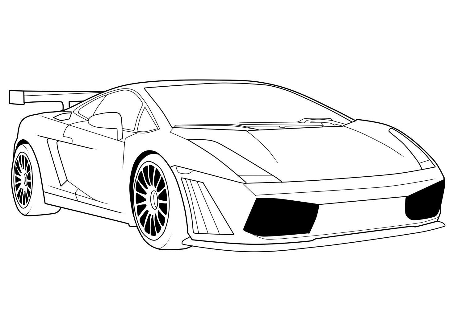 Coloring printouts of exotic cars - Lamborghini Coloring Pages 02
