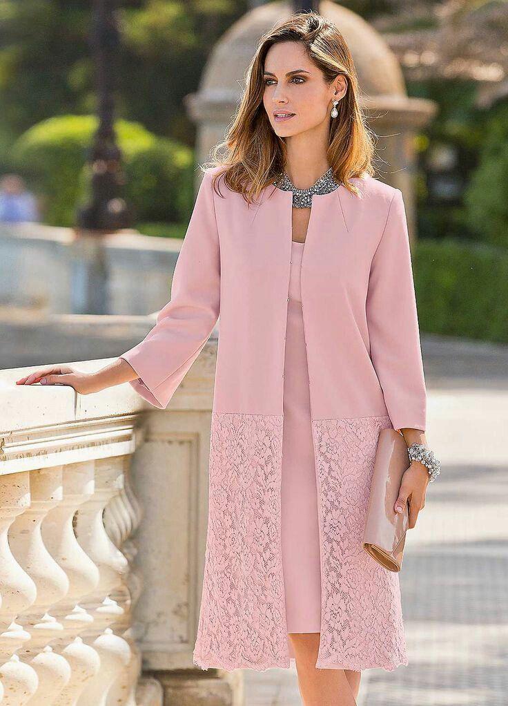 Pink lace hem coat | kleitas | Pinterest | Vestiditos, Vestidos ...