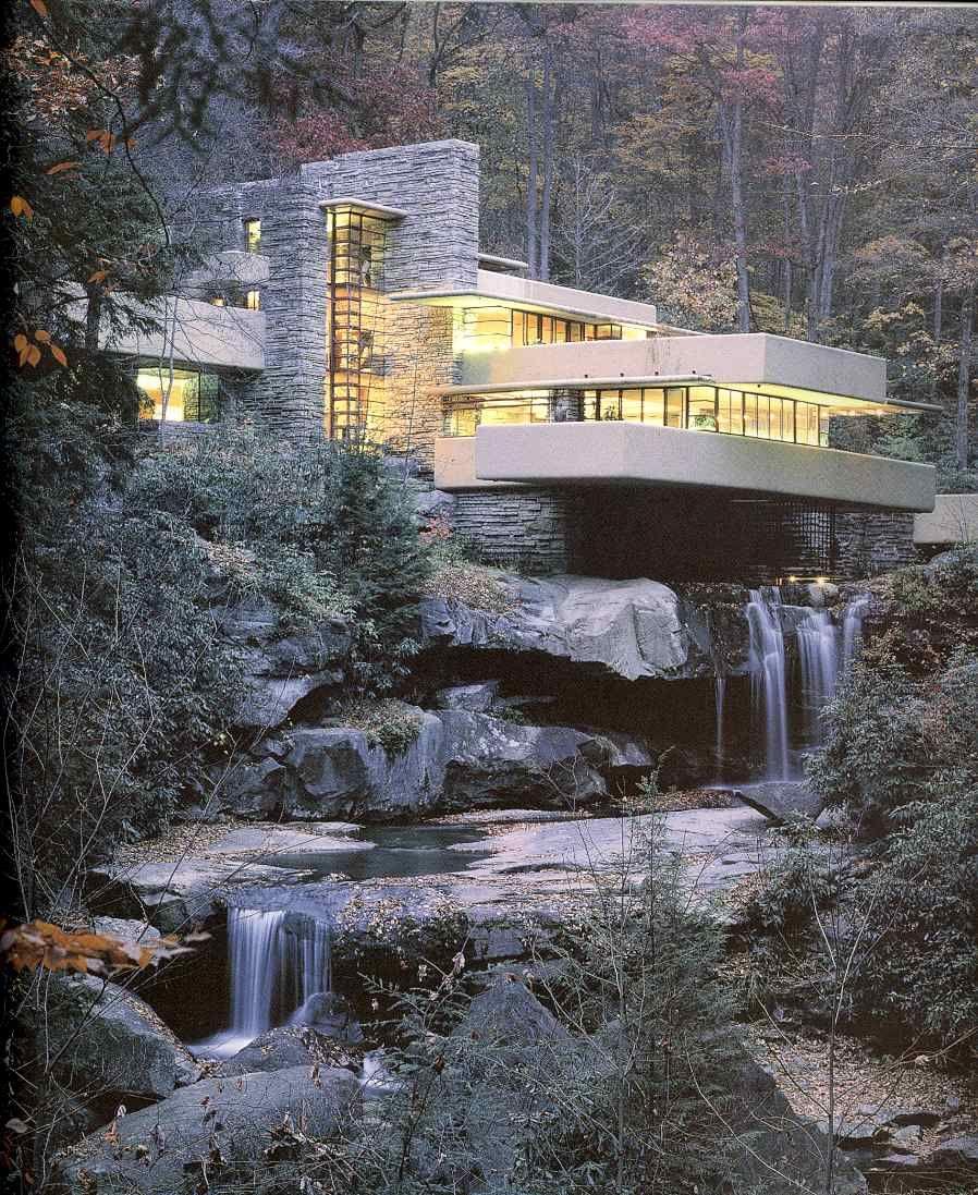 Frank lloyd wright maison sur la cascade bear run 1935 - La maison sur la cascade ...