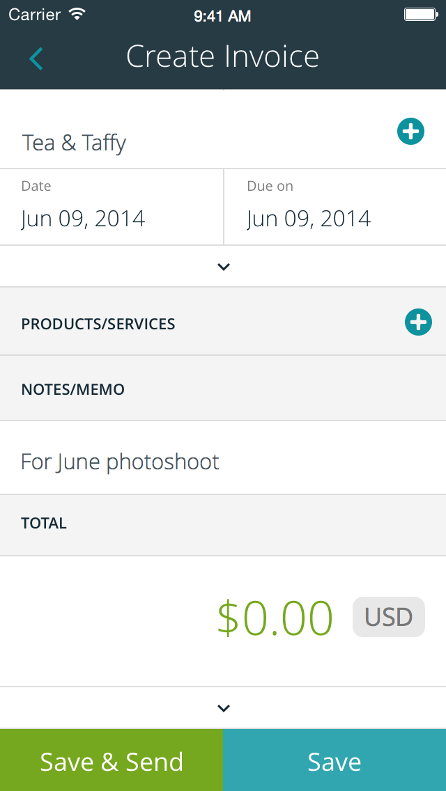 Creating Invoices Is Easy With The App For Ios Invoice Example Invoice Template Free Invoice