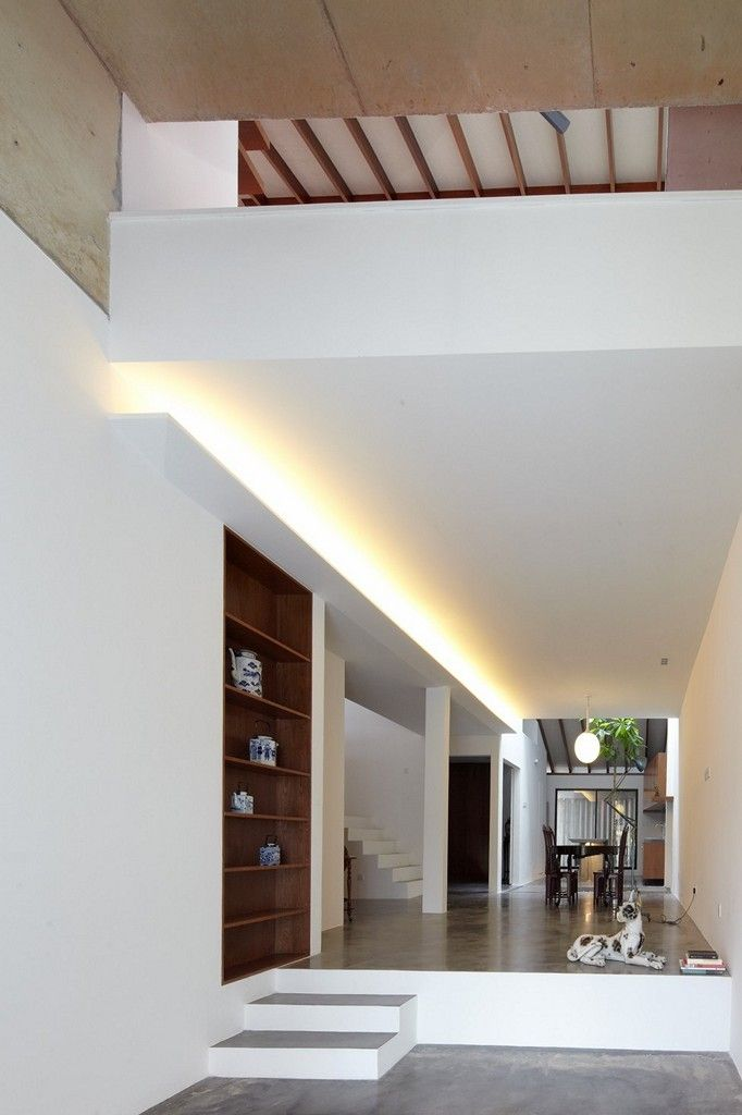Single Storey Peranakan Styled Home Step Up To Dining Area From