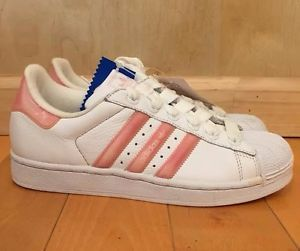 ADIDAS-SUPERSTAR-WHITE-BLOSSOM-PINK-ZM-LEATHER-CASUAL-WOMENS-WMN-SZ-5-10-036121