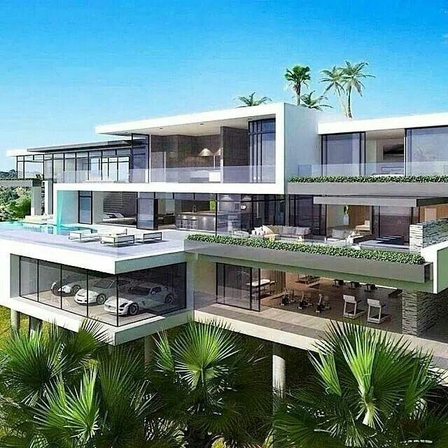 Modern luxury.   Modern mansion, Dream house exterior ...