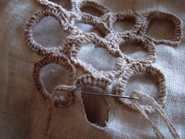 Wabi Sabi Holes in embroidery - these could be easily translated to look  like barnacles and