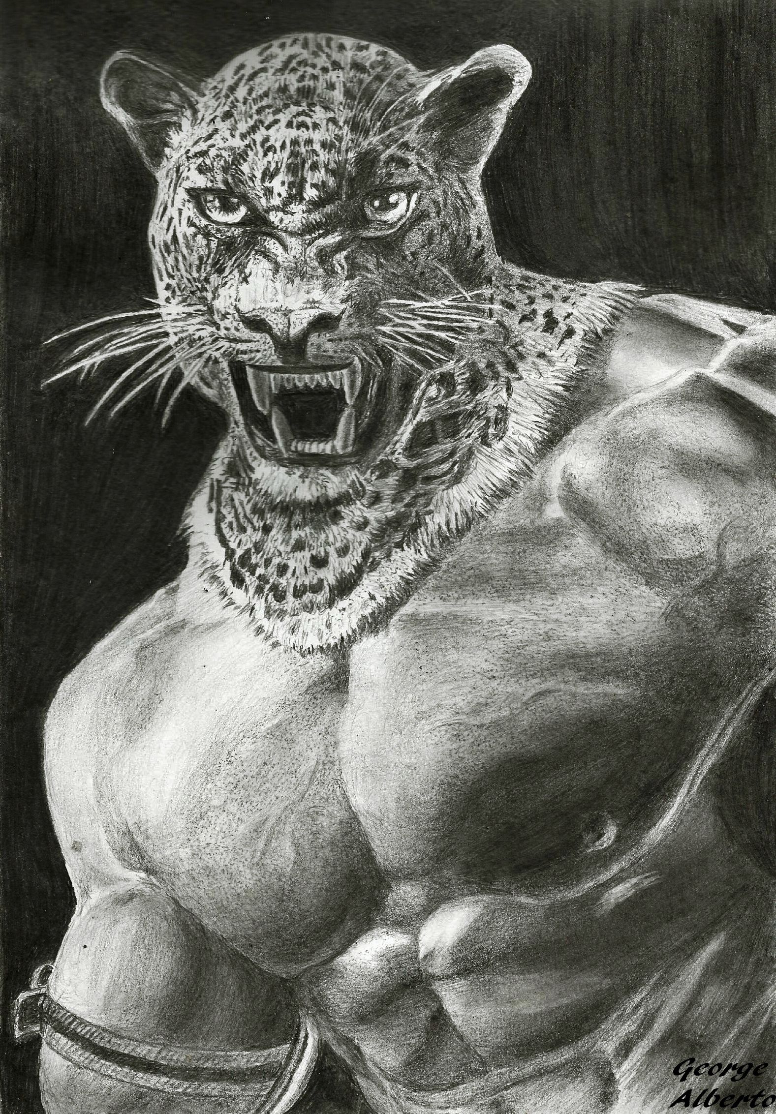 King Tekken Realistic Pencil Draw Desenho Realista A Lapis Animal Tattoo Animals Panther
