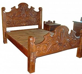 handmade mexican bed frames favorite finds for mi casa home decor furniture mexican furniture. Black Bedroom Furniture Sets. Home Design Ideas
