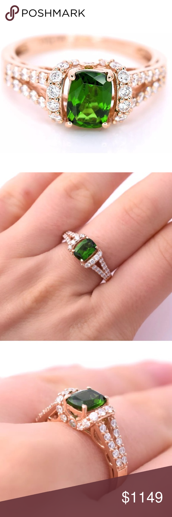Selling this LeVian Chrome Diopside Diamonds Ring 14k Rose gold on ...