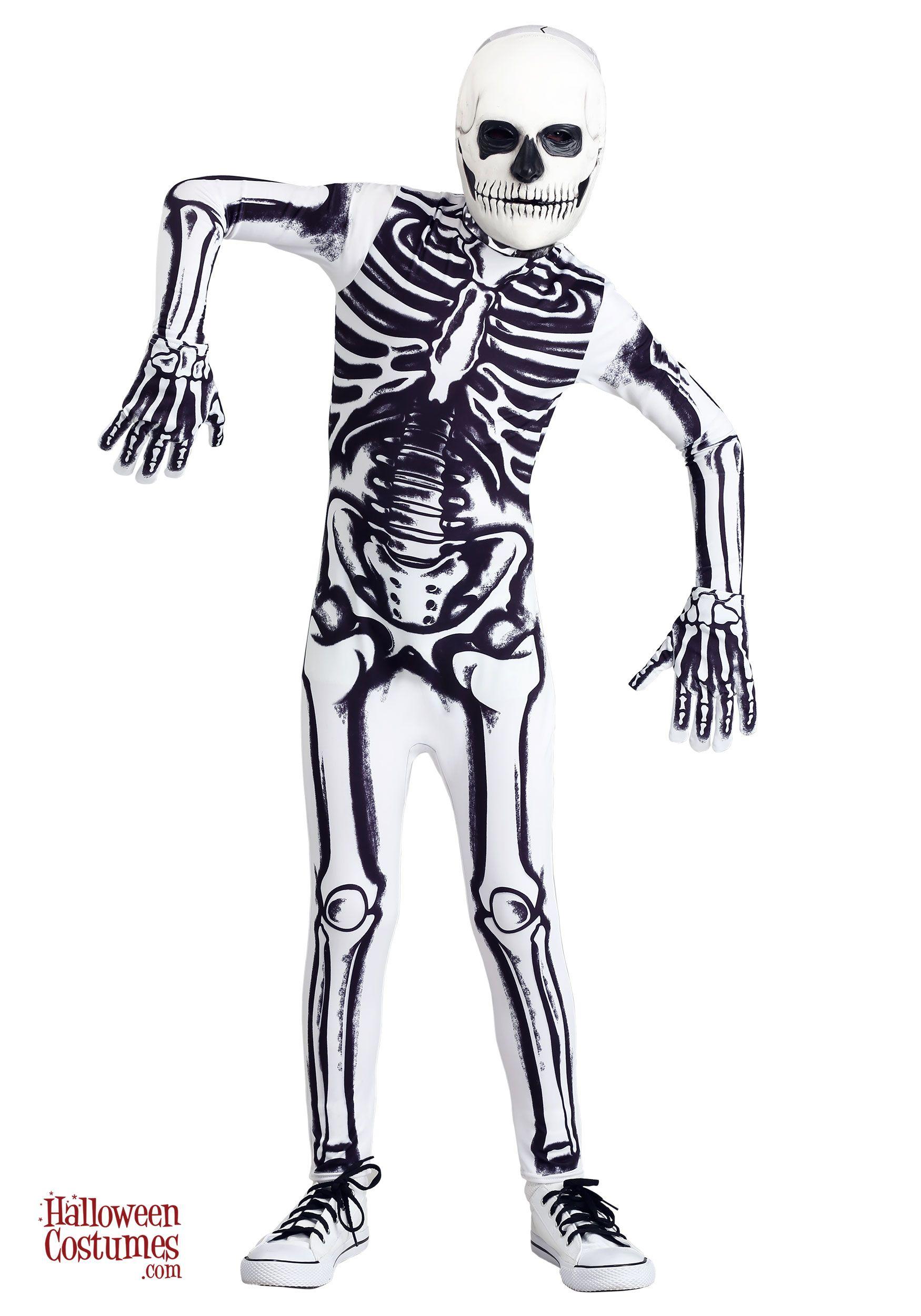 White Skeleton Costume For Kids In 2021 Skeleton Halloween Costume Skeleton Costume Kids Skeleton Costume