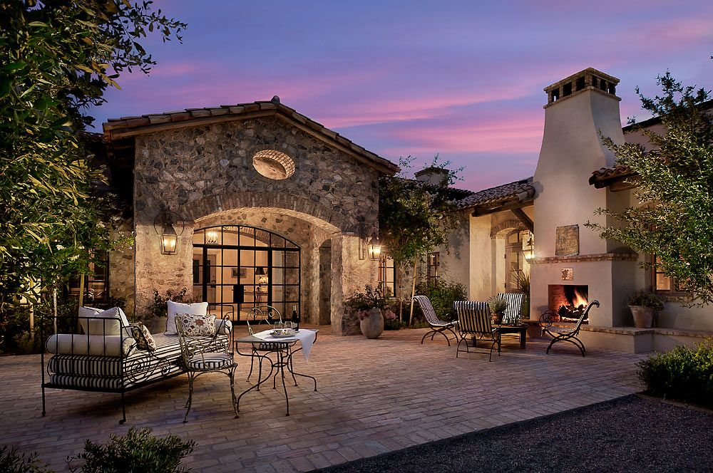 stunning french country luxury homes. This newly constructed stunning French provincial home in the upscale  neighborhood of Paradise Valley Arizona was designed by Higgins Architects Country Club Masterpiece Calvis Wyant Luxury