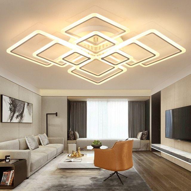 Iyoee Acrylic Modern Led Ceiling Lights For Living Room Bedroom Plafon Led Home Li Ceiling Lights Living Room Ceiling Design Living Room Ceiling Design Bedroom