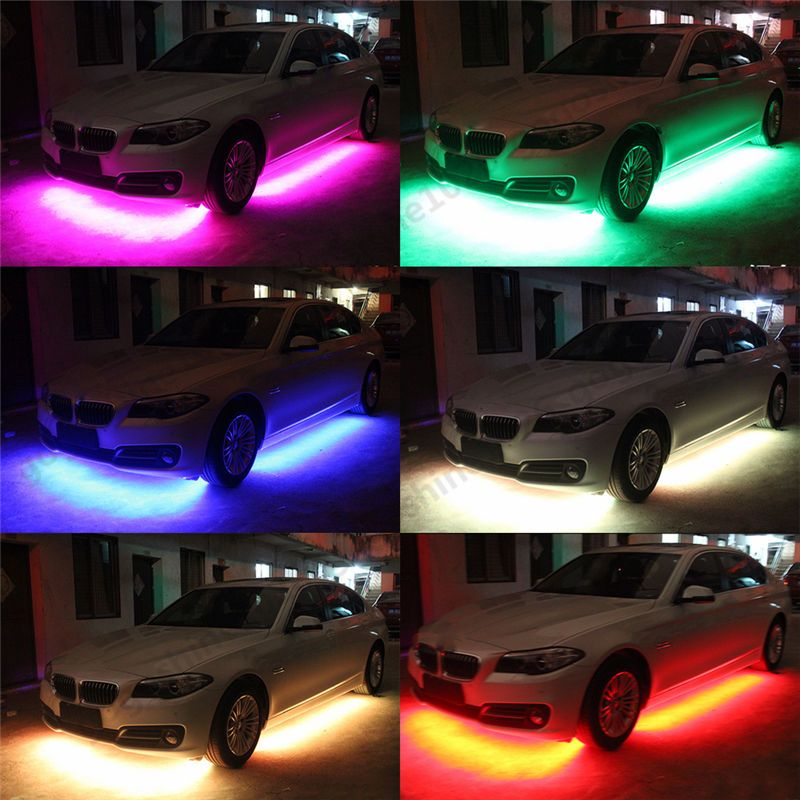 4x RGB Under Car Neon Chassis Light Kit Remote Control Colorful LED Universal