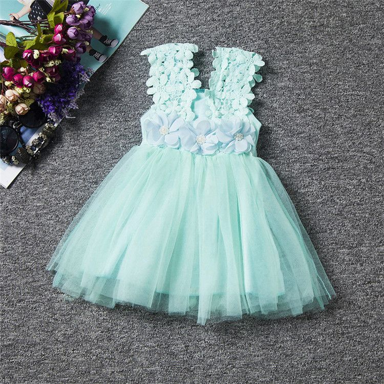 Click to Buy << Flower Girl Dress Summer Clothes Girl Baby Girl ...