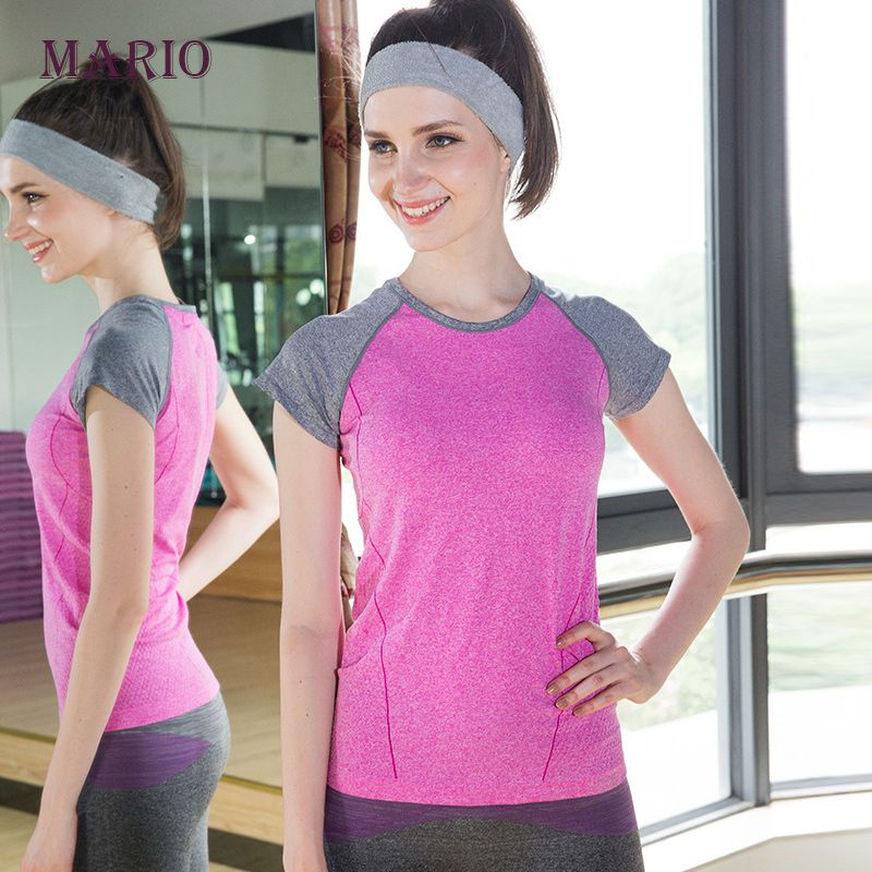 Womens professional fitness sports quick-drying perspicuousness short-sleeve exercise clothes T-shirt running top https://t.co/68Ox3MPXg0