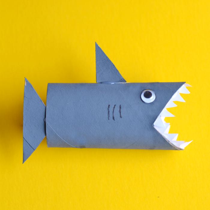 Shark Toilet Paper Roll Craft Shark Toilet
