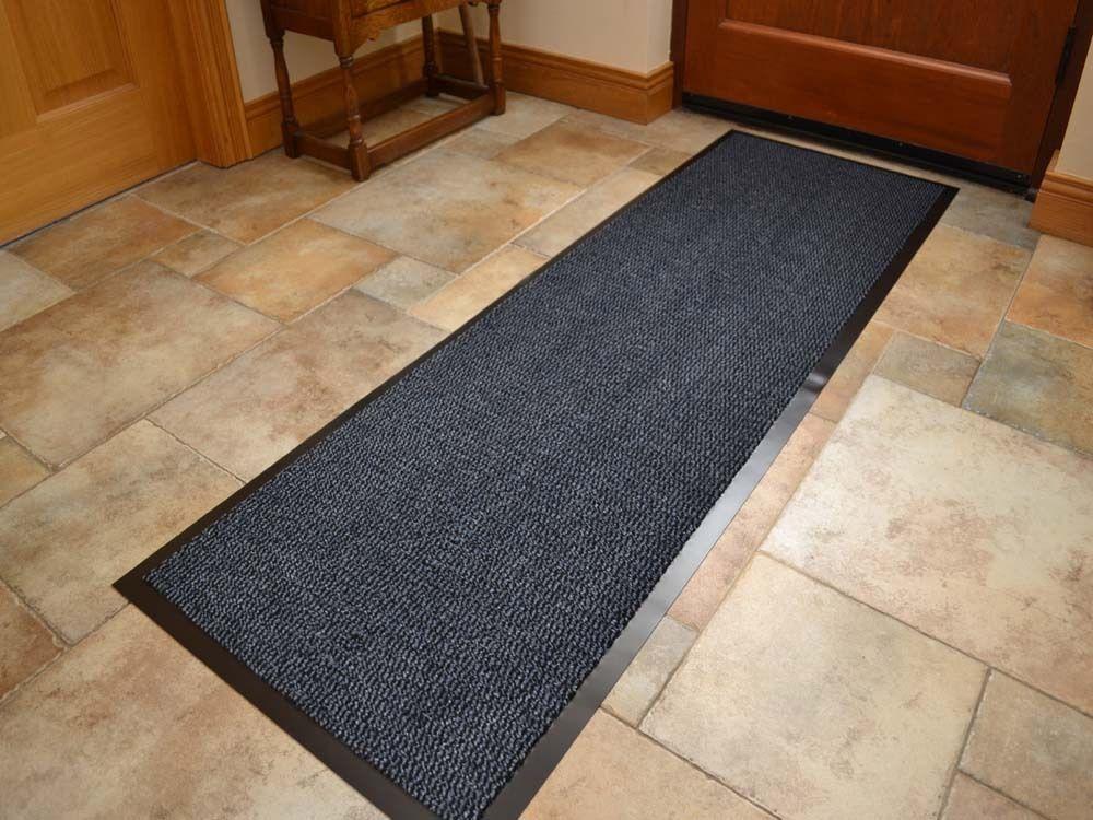 Best Details About Blue Barrier Mat Runner Anti Trip Slip Rubber Back Long Indoor Hall Doormat Door 400 x 300