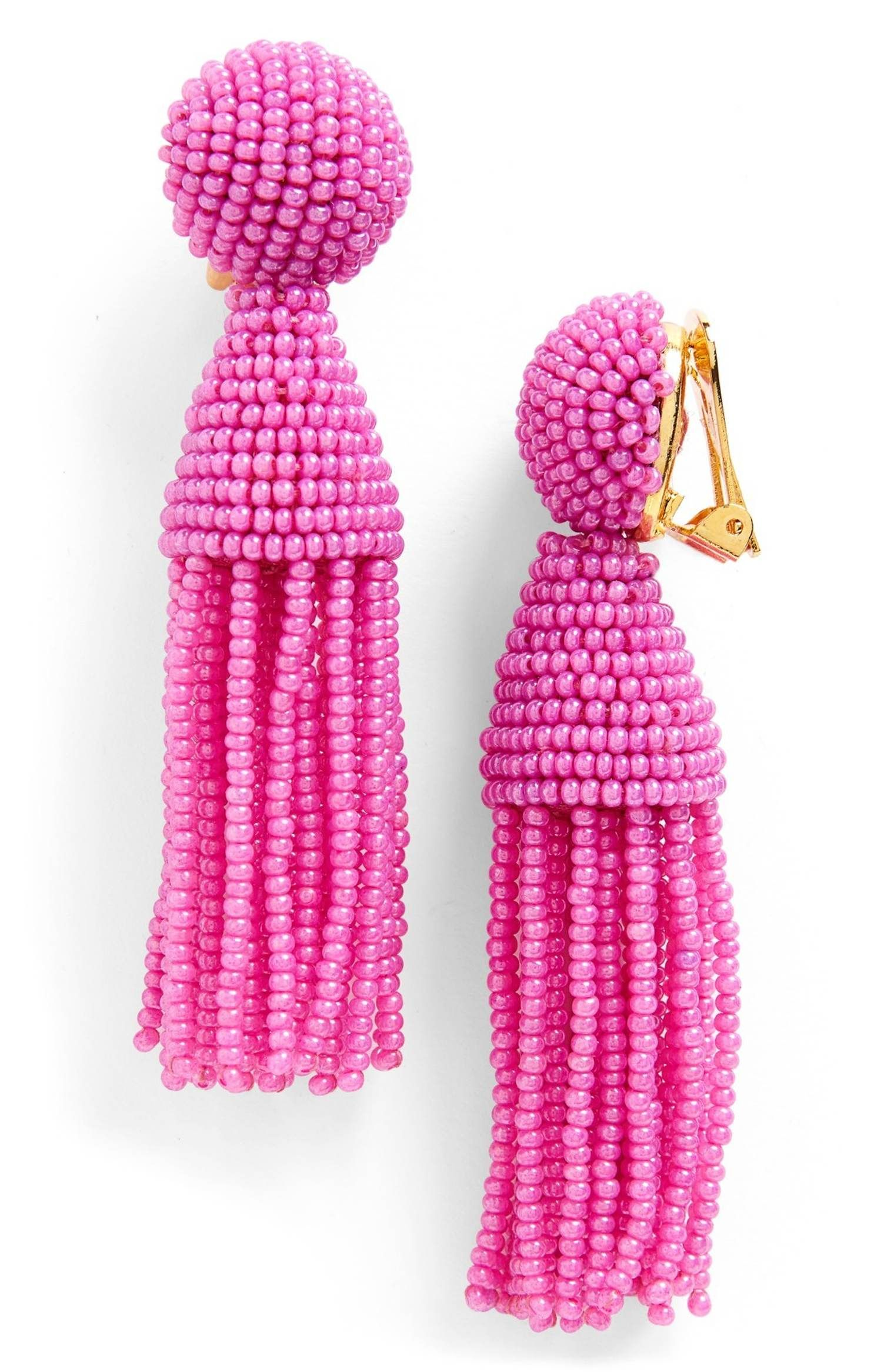 tassel drop earrings - Pink & Purple Oscar De La Renta zTedcK6nA