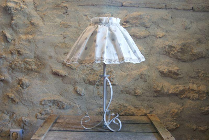 lampe Emmanuelle - lampe de table - D'Ombres et de Lumière - Fait Maison   Lampes de table ...