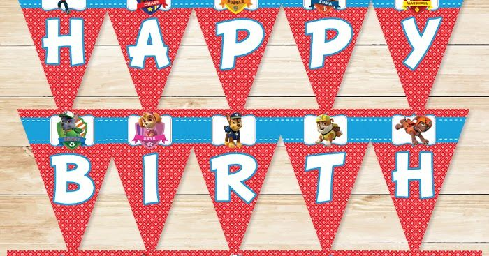 This Paw Patrol Banner Is A High Resolution PDF 85 X 11 Inches In Size There Are 5 Pages To The Birthday An