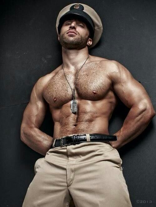 army Hairy men chested