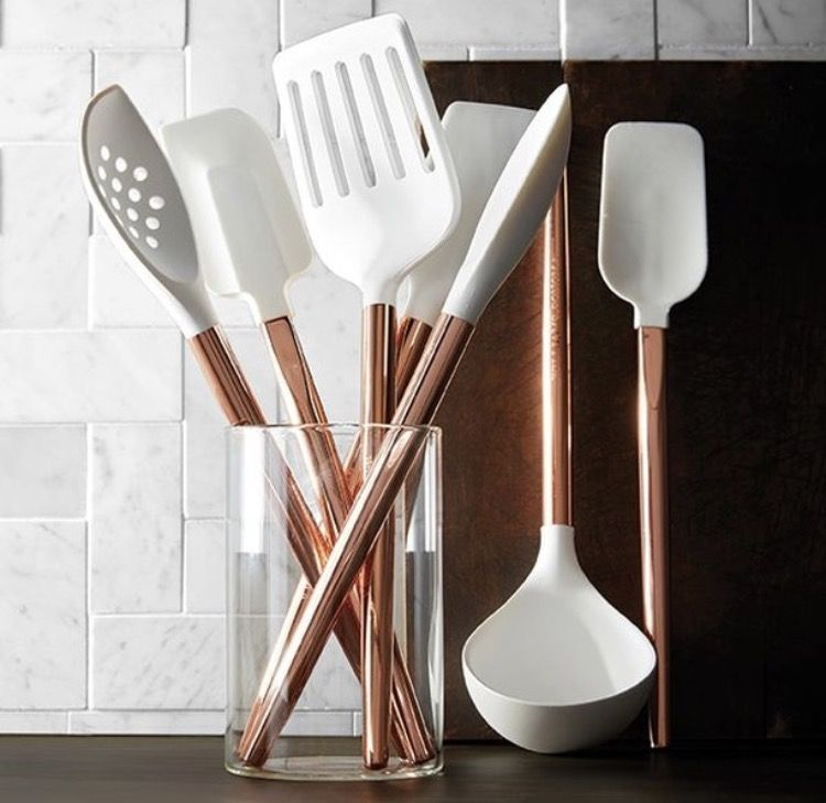 Copper & Silicone kitchen utensils from Williams Sonoma https://www ...