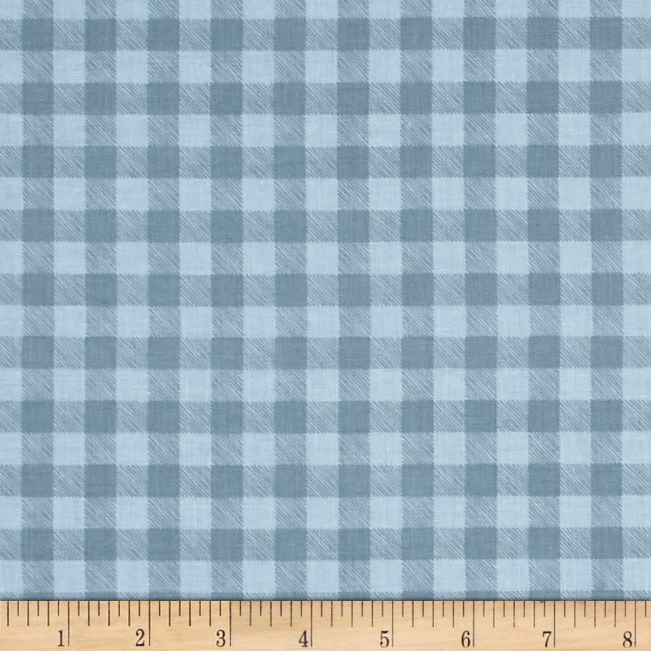 Lets Go Camping Checkered Plaid Glacier - Picnic table print