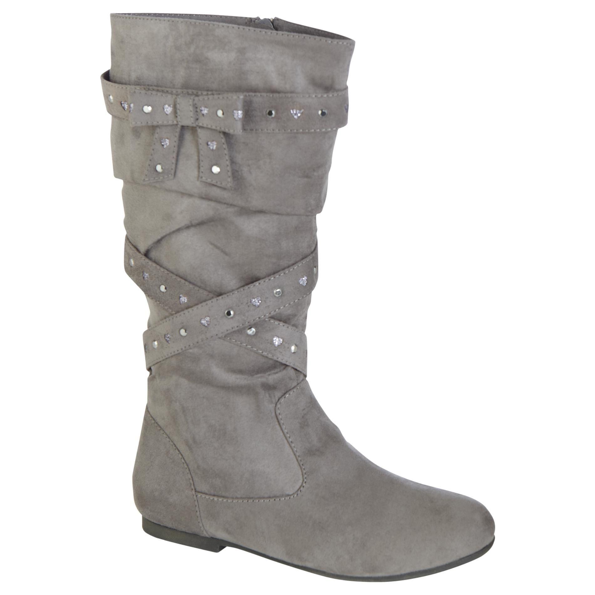 Grey Microsuede-Shoes-Girls Shoes-Girls